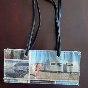 Upcycled Newspaper Artsy Creative Shoulder Bag